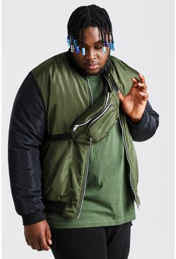 Black Plus Size MAN Bomber And Bum Bag