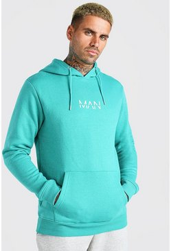 Green Original MAN Over The Head Hoodie