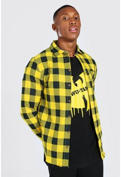 Yellow Long Sleeve Regular Fit Flannel Shirt