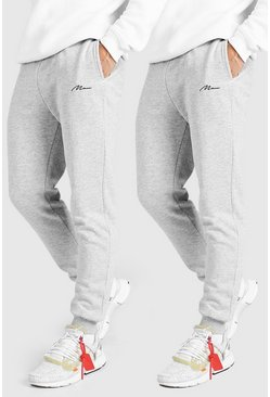 Grey 2 Pack MAN Signature Slim Fit Jogger