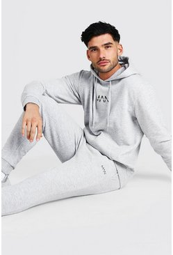 Grey marl grey Original MAN Regular Hooded Tracksuit