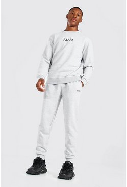 Grey marl grey Original MAN Sweater Tracksuit