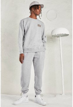 Grey MAN Tracksuit with Sleeve Pocket
