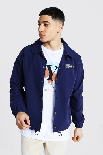 Navy MAN Official Branded Woven Coach Jacket