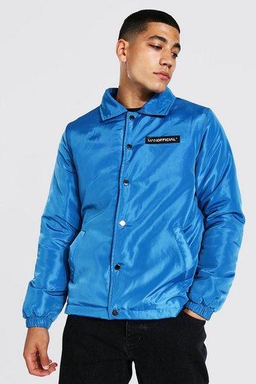 Denim-blue blue MAN Official Nylon Coach Jacket