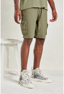 Sage silver grey Relaxed Short With Utility Pocket