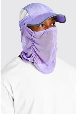 Lilac purple Snood Cap