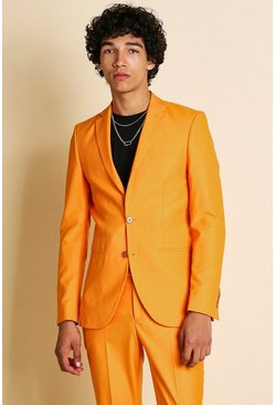 Veste de costume unie coupe super cintrée, Orange