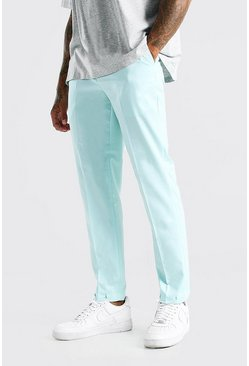 Mint Slim Plain Elasticated Cuff Smart Trouser
