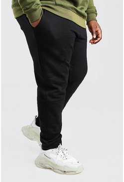Black Plus Size Basic Skinny Fit Joggingbroek