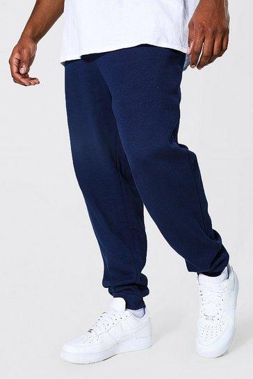 Navy Plus Size Basic Skinny Fit Jogger