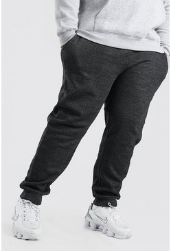 Charcoal grey Plus Size Basic Skinny Fit Joggingbroek