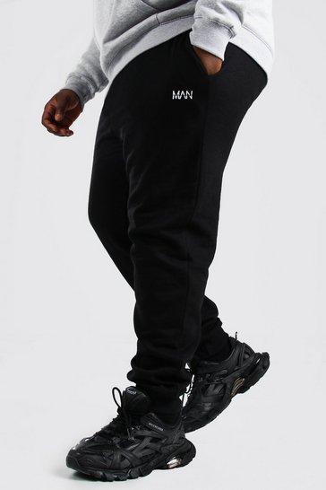 Black Plus Size MAN Dash Skinny Fit Jogger