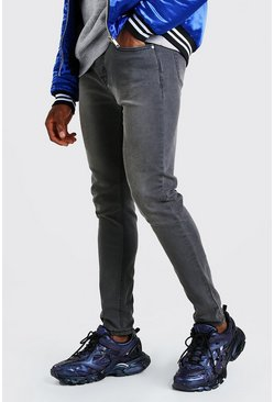Charcoal grey Skinny Fit Denim Jeans