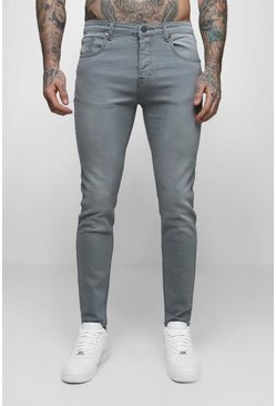 Grijs grey Skinny fit denim jeans