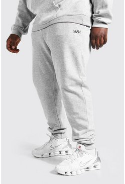 Grey marl grey Plus Size Man Dash Skinny Fit Joggingbroek