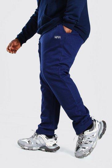 Navy Plus Size MAN Dash Skinny Fit Jogger