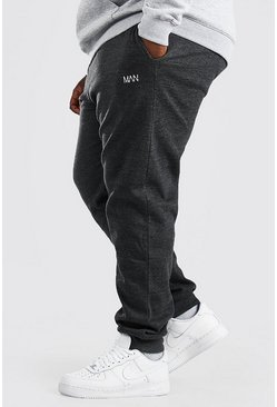 Charcoal grey Plus Size Man Dash Skinny Fit Joggingbroek