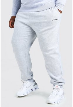 Grey marl grey Plus Size MAN Script Slim Fit Jogger
