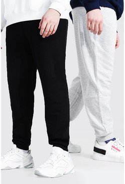 Multi Plus Size Basic Skinny Fit Joggingbroeken (2 Stuks)