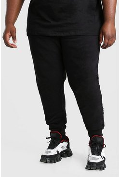 Zwart black Plusmaat Basic skinny fit joggingbroek