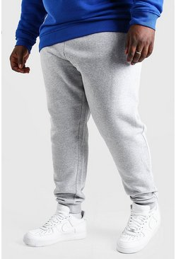 Grey marl grey Plus Size Basic Skinny Fit Jogger