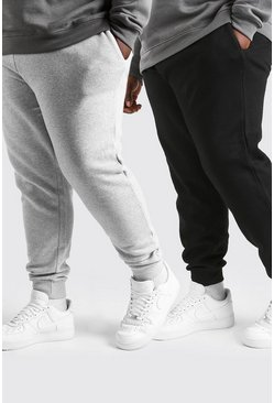 Multi Plus Size 2 Pack Basic Skinny Fit Jogger