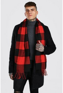 Red Buffalo Check Scarf