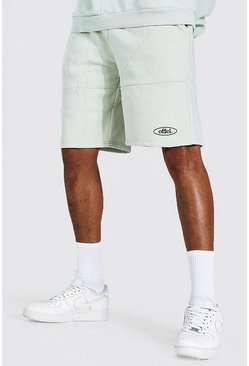 Stone Tall Oversized Official Panelled Short