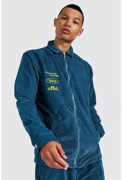 Green Tall Oversized Official Cord Shacket
