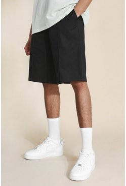 Tall Skate Chino Shorts, Black schwarz