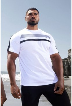 White Man Active Colour Block Panel T-shirt