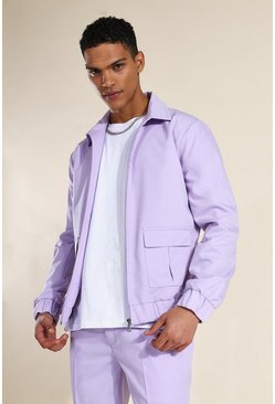 Lilac purple Skinny Smart Coach Jacket