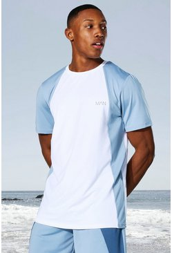 White Man Active Tonal Colour Block T-shirt