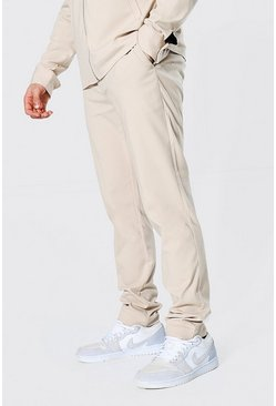 Skinny Smart Coord Trousers, Tan braun