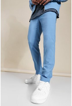 Skinny Smart Coord Trousers, Blue blau