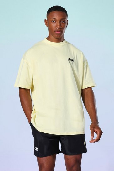 Yellow Oversized Palm T-shirt