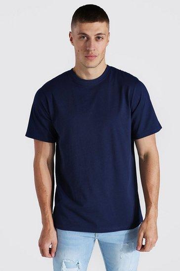 Navy Basic Crew Neck T-shirt
