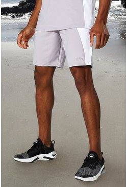 Grey marl grey Man Active Tonal Colour Block Short