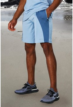 Dusty blue blue Man Active Tonal Colour Block Short