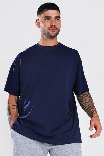 Navy Oversized Basic T-shirt