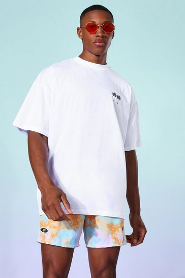 White Oversized Palm T-shirt