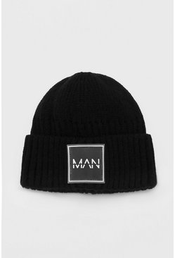 Black MAN Dash Micro Beanie