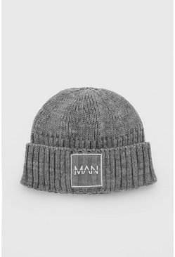 Grey MAN Dash Micro Beanie