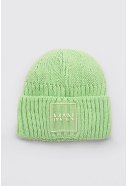 Mint green MAN Dash Micro Beanie