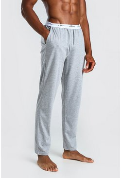 Grey MAN Signature Jacquard Waistband Lounge Pant
