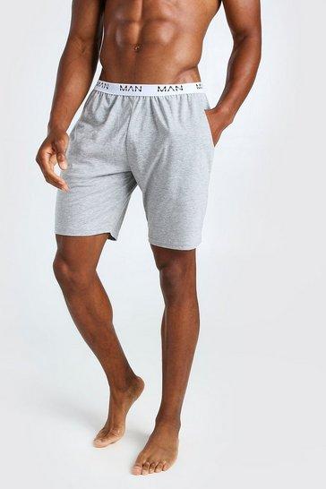 Grey MAN Dash Jacquard Waistband Lounge Short