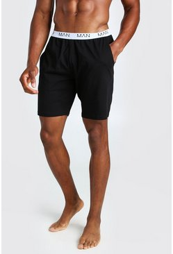 Black MAN Dash Jacquard Waistband Lounge Short
