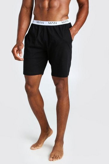 Black MAN Dash Jacquard Waistband Lounge Short