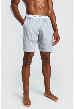 Grey MAN Signature Jacquard Waistband Lounge Short